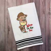 Freddy Loves Wine Towel