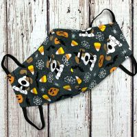 Candycorn Pup Face Mask