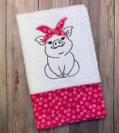 Country Pig Towel