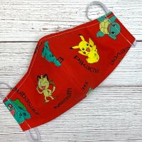 Pokemon on Red Face Mask