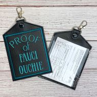 Fauci Ouchie Vaccine Card Holder (Blue)