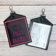 Fauci Ouchie Vaccine Card Holder (Pink)