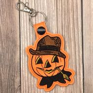 Pumpkin Scarecrow Key Ring