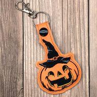 Pumpkin Witch Key Ring