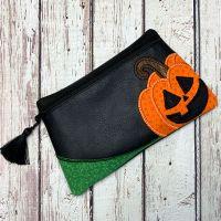 Jack O'lantern Zipper Bag